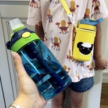 便携式儿童塑料杯学生吸管...