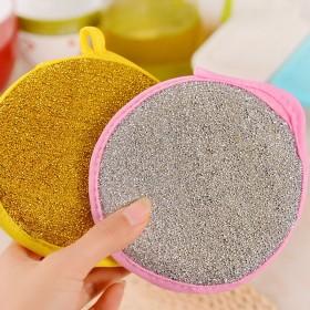 吸水抹布不掉毛元宝巾厨房清洁洗碗刷锅百洁布海绵擦日