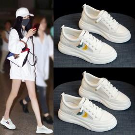 厚底小白鞋子女夏季薄款百搭休闲网面透气板鞋爆款