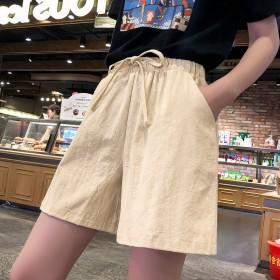 2020新款高腰阔腿韩版薄款运动休闲外穿短裤女夏宽