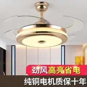 风扇灯42寸隐形吊扇灯36寸客厅变频餐厅卧室双控