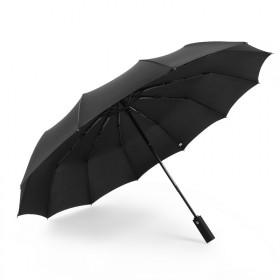 自动12骨防风全自动雨伞男士商务纯色折叠雨伞