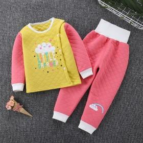 儿童保暖内衣套装纯棉冬季新款宝宝中小童开衫夹棉冬