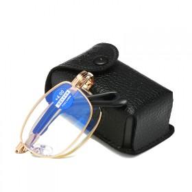 远近两用防蓝光舒适双光老花镜男女通用折叠便携眼镜