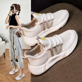 小白鞋女韩版百搭透气网面运动鞋休闲学生旅游跑步鞋子