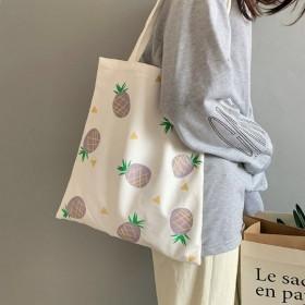 菠萝梨子插画帆布包