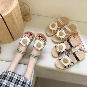 女鞋夏季2020百搭外穿学生韩版拖鞋女潮仙女风平跟