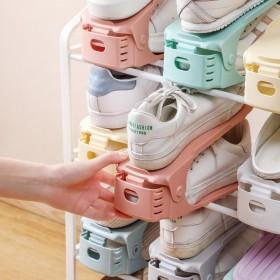 可调节收纳双层加厚鞋架分层鞋托家用宿舍鞋子收纳架鞋