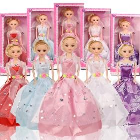 妍儿芭比迷糊洋娃娃换装套装婚纱女孩公主过家家玩具礼