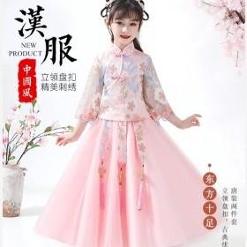 女童春秋汉服超仙古装公主裙儿童中国风旗袍唐装套装宝