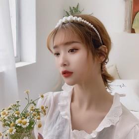 优雅仿珍珠发箍女百搭甜美外出超仙头箍简约网红韩国仙