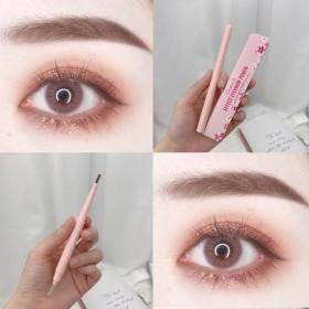 双头眉笔防水不易晕染带眉刷自动旋转眉笔自然学生款平