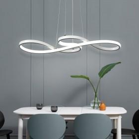 北欧后现代餐吊灯简约音符led创意个性艺术卧室吊灯