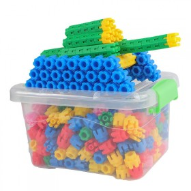 儿童六角积木益智男女孩子宝宝拼装拼插塑料玩具