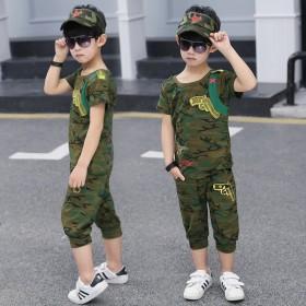 男童迷彩服短袖夏装中大童军装潮特种兵军训帅气