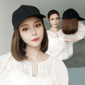假发女长发假发帽子一体女夏天时尚帽子假发网红全头套