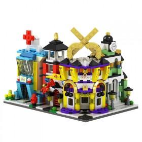 小颗粒拼装积木城市街景系列迷你儿童活动礼品建筑益智