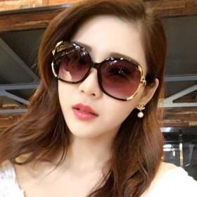 防晒偏光墨镜女士潮圆形个性太阳镜女开车防紫外线眼镜