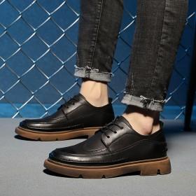 2020年夏秋季新款布洛克风休闲皮鞋舒适潮流气质低