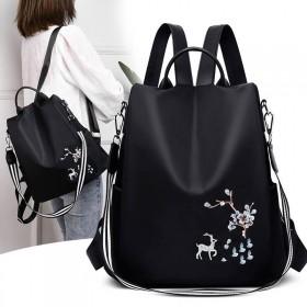 双肩包女背包2020新款韩版牛津布帆布背包旅行包