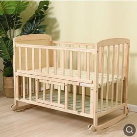 实木婴儿床多功能宝宝床儿童床摇篮床送蚊帐