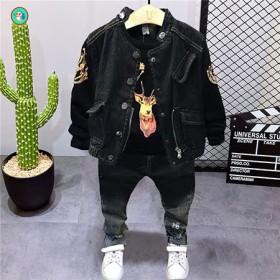 童装男童秋装2020新款衣服小童潮帅气韩版儿童牛仔