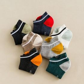 袜子短袜纯棉夏季男士网眼船袜韩版创意新品吸汗防臭素
