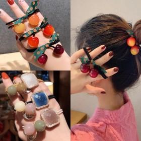 韩版网红头绳橡皮筋扎头发绳皮套发饰丸子头饰简约时尚