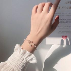 蝴蝶结手链女姐妹二人手环学生韩版气质少女心网红饰品