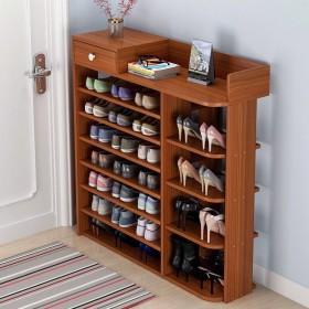 多层鞋架简易储物架收纳鞋柜创意鞋架玄关门口仿实木鞋