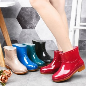 雨鞋女短筒时尚防滑雨靴