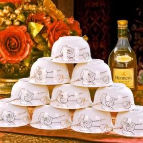 10个装景德镇4.5英寸米饭碗陶瓷碗