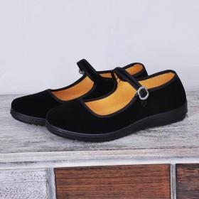 老北京布鞋女棉软底工作鞋