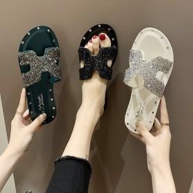 拖鞋女夏外穿网红新款水钻鞋子女学生