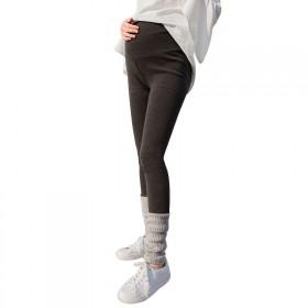 大码孕妇打底裤春秋厚款灰色弹力外穿百搭小脚裤高个子