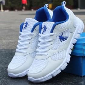 透气运动鞋休闲鞋男网鞋夏季跑步鞋旅游鞋大码板鞋男鞋