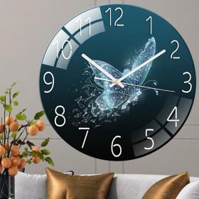 网红钟表客厅挂钟时钟家用静音卧室石英钟大气创意欧式