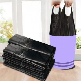 垃圾袋50个家用加厚加长手提式背心黑色厨房塑料袋