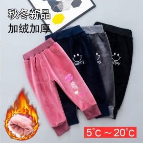 儿童裤子男秋冬加绒加厚休闲裤中小童