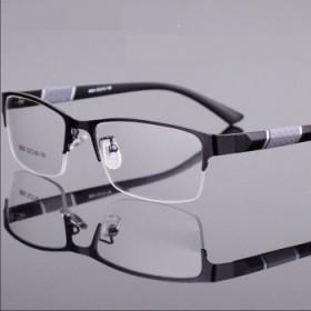 近视眼镜0-600度半框金属眼镜