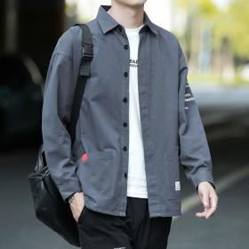 西部英雄100%纯棉免烫男长袖衬衫春秋休闲衬衣外套