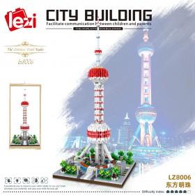 乐高拼装东方明珠积木高难度巨大型建筑积木