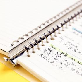 活页本笔记本本子可拆卸金属夹超厚外壳大学生考研B5