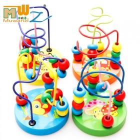彩色小绕珠串珠幼儿园宝宝婴儿儿童颜色认知智力早教