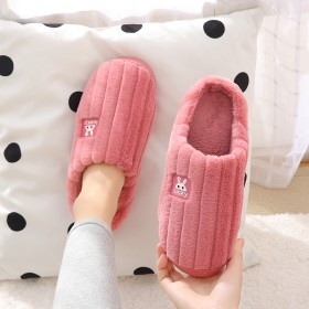 棉拖鞋女冬季月子家居防滑家用情侣室内加绒毛毛冬天男