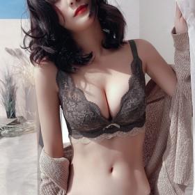 蕾丝内衣小胸衣聚拢收副乳无钢圈调整型蕾丝性感文胸