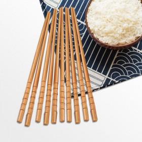 【20双装】无漆无蜡中式家庭装竹筷家用筷子防滑筷条
