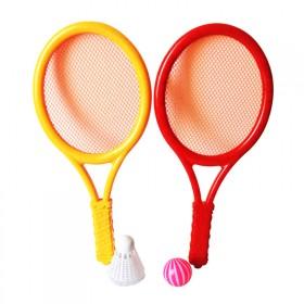 幼儿园亲子互动健身男女孩球类玩具羽毛球拍网球拍一对