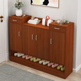 鞋柜简易多功能收纳玄关仿实木进门防尘鞋柜家用大容量