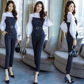 2020年新款套装裤子气质时尚两件套女秋装洋气减龄